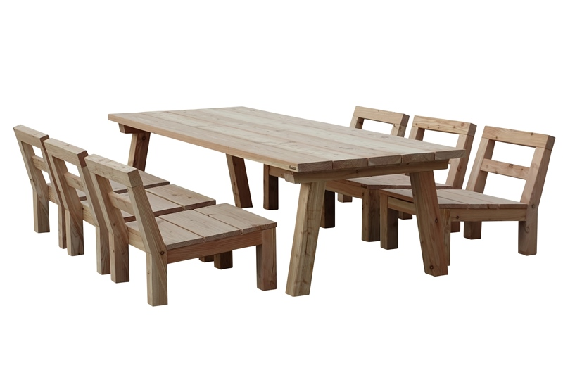 Low dining set Lenton